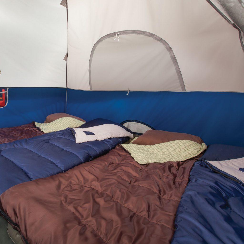 Coleman sundome tent sleeping bags
