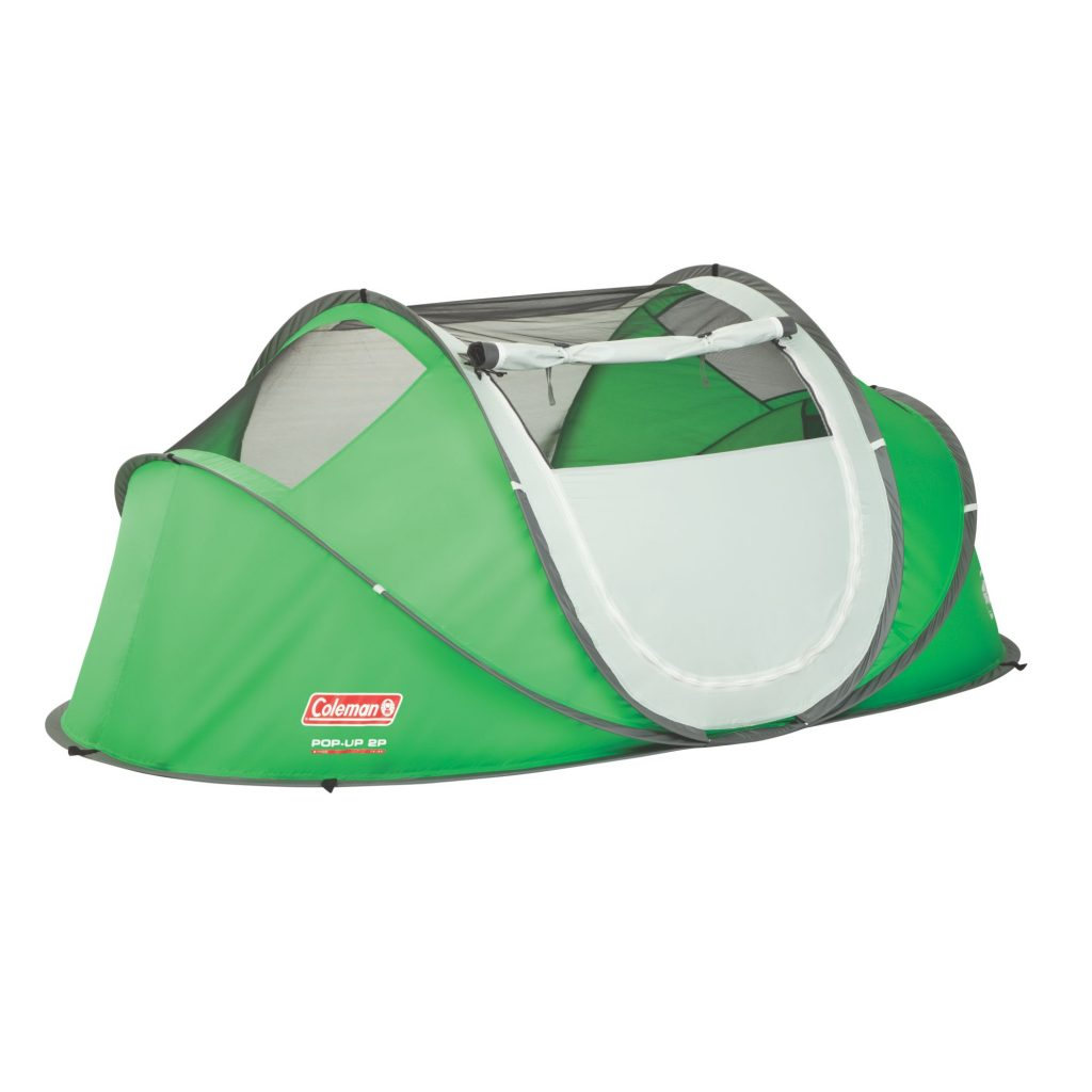windows open on pop up tent