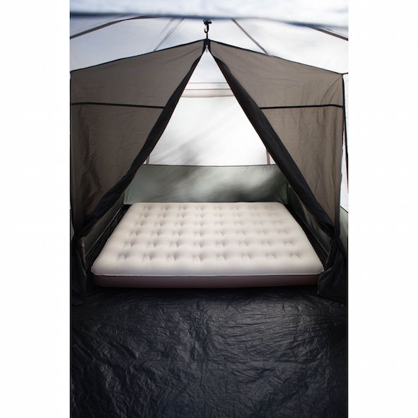 Coleman tent with camping air mattress